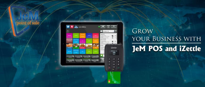 JeM POS Partners with iZettle and package payment solution for its point of sale